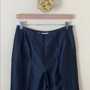 Talbots 💯 silk black high waist straight pants